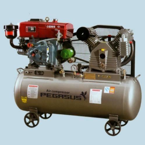 Máy nén khí chạy dầu diesen PEGASUS TM-W-1.0/8-500L (10HP)